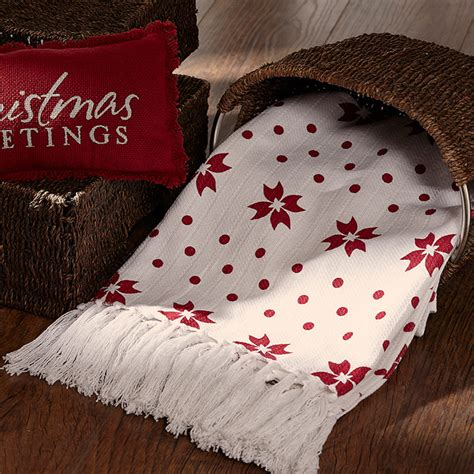 klaus christmas holiday woven throw 50 quot x 60 quot