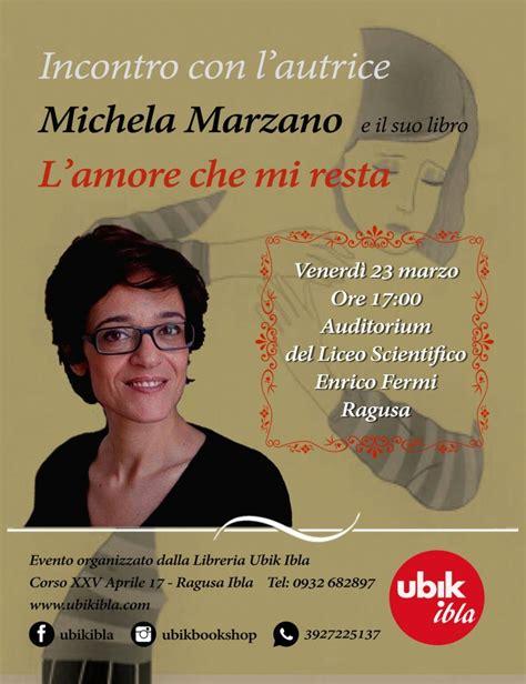 libreria ubik ragusa quot l mi resta quot michela marzano presenta il suo