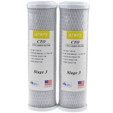 Cto Kolon 10 Inch Actived Carbon Block 2pcs universal water filter activated carbon cartridge filter 10 inch cto block carbon filter