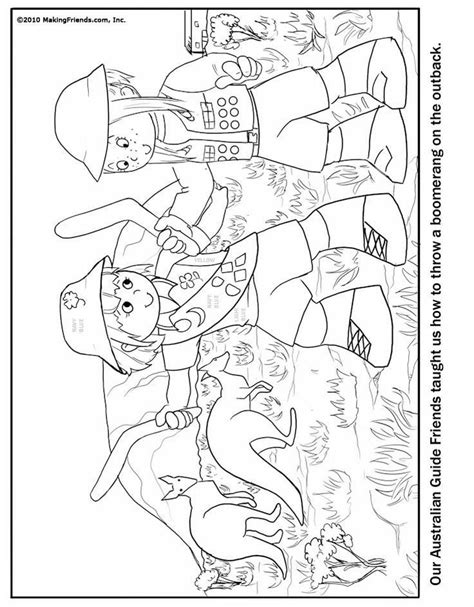 girl scout brownie coloring pages coloring home