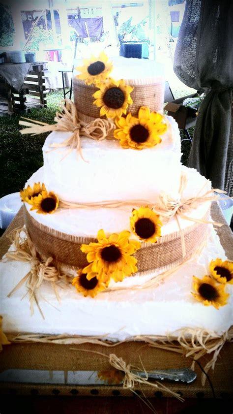 sunflower wedding cake idea   bella wedding