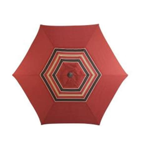 Martha Stewart Patio Umbrellas Martha Stewart Living Cedar Island 9 Ft Patio Umbrella In Fruit Dy4035 U The Home Depot