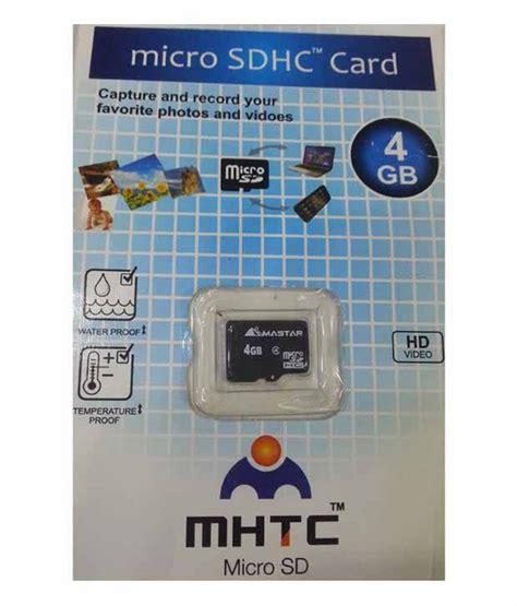 Memory Maestro 4gb Non Pack Micro Sd Hc Vgen V Card Memori 4 Gb 1 mhtc 4 gb micro sdhc card pack of 2 memory card buy