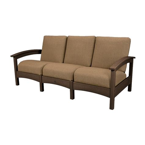 Sesame Sofa by Trex Outdoor Furniture Rockport Club Vintage Lantern Patio