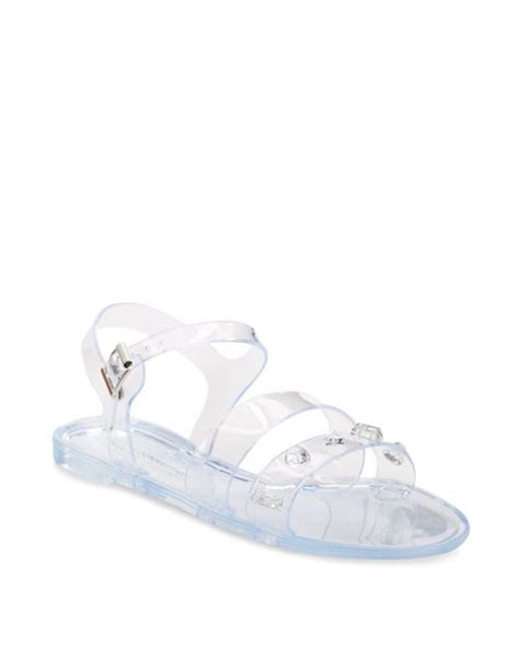 studded jelly sandals connection juno studded jelly sandals in multicolor