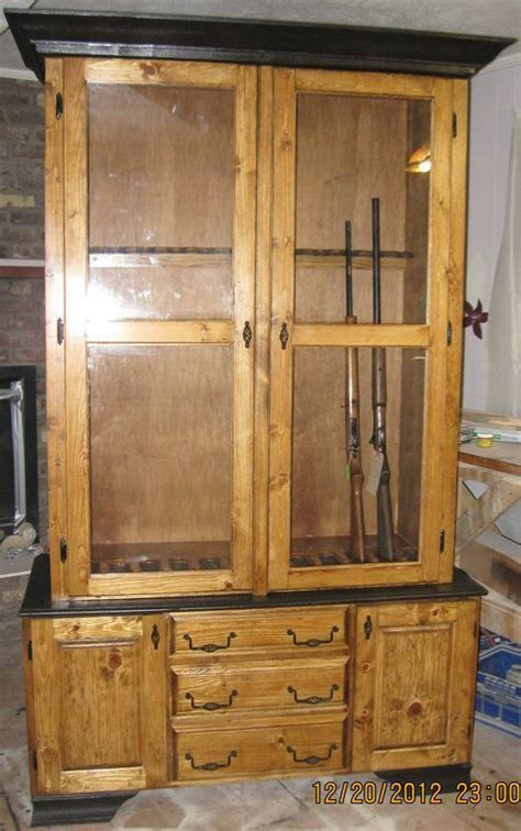 how to build a gun cabinet 21 gun cabinet and rack plans to securely