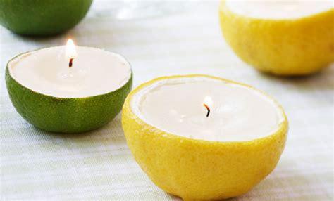 candele profumate naturali candele profumate fai da te dentro gli agrumi un idea