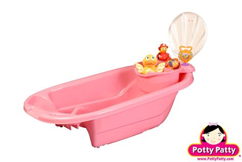 pink baby bathtub pink baby bath tub and tub toy organizer for girls potty