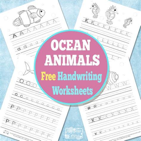 Itsy Bitsy Animals animals handwriting worksheets itsy bitsy