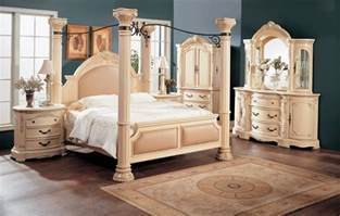 bedroom white distressed furniture sets with silver
