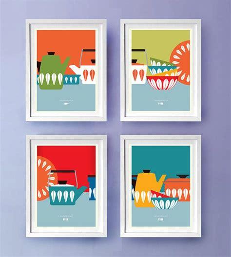 a4 printable wall art kitchen art print cathrineholm mid century modern poster