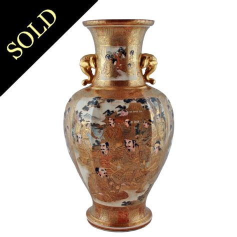 Satsuma Vase by Antique Japanese Satsuma Vase