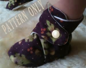 Pattern amp tutorial for baby booties soft shoes with gripper sole 12 24