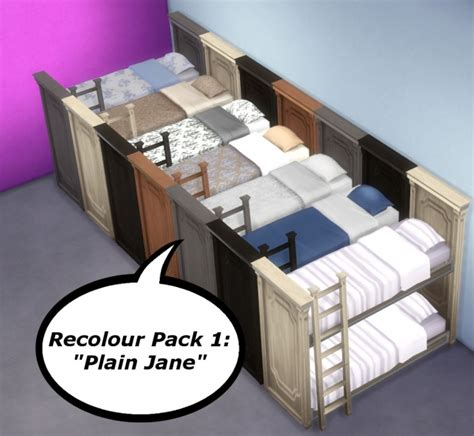 4 bed bunk beds functional bunk bed by breath at mod the sims 187 sims
