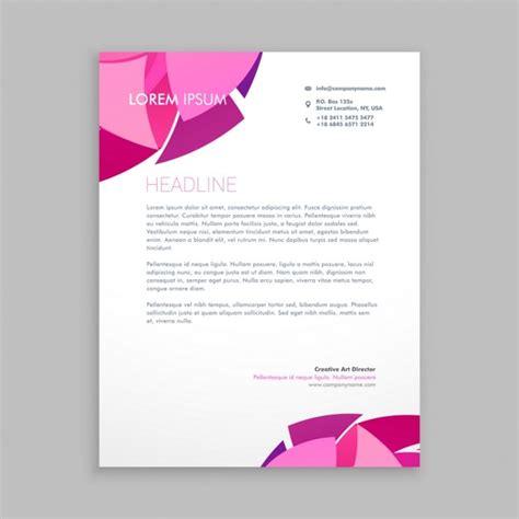 Briefkopf Design Vorlagen Abstrakt Business Briefkopf Design Der Kostenlosen Vektor