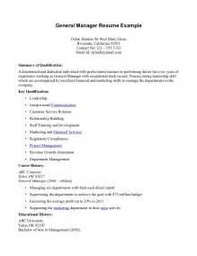 Resume Exles General by General Resume Exles Berathen