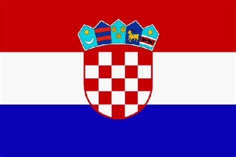 Aufkleber Länderflaggen by Nationalflagge Kroatien Irace Design