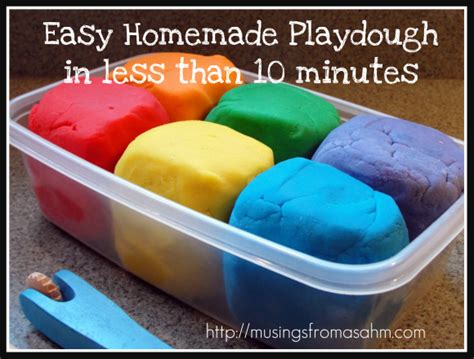 Easy Handmade Things To Make - easy playdough recipe musings from a stay at