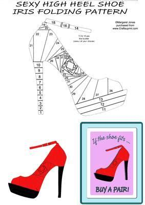 high heel shoe iris folding pattern on craftsuprint