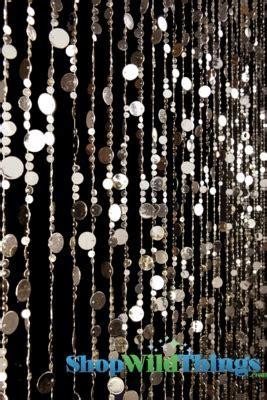 Light Gold Backdrop, Beaded Curtain Light Gold Circles