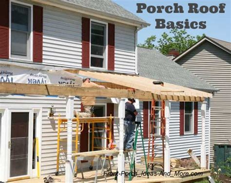 Porch Roof Construction How To Build A Flat Roof Porch Images