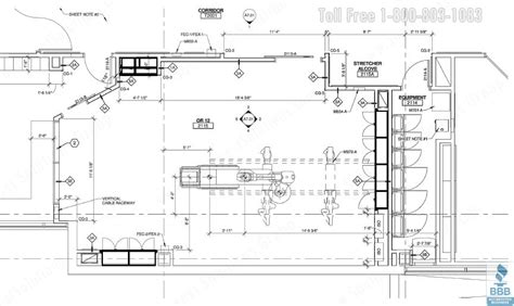 operating room floor plan layout casework cabinets design plans operating room surgical