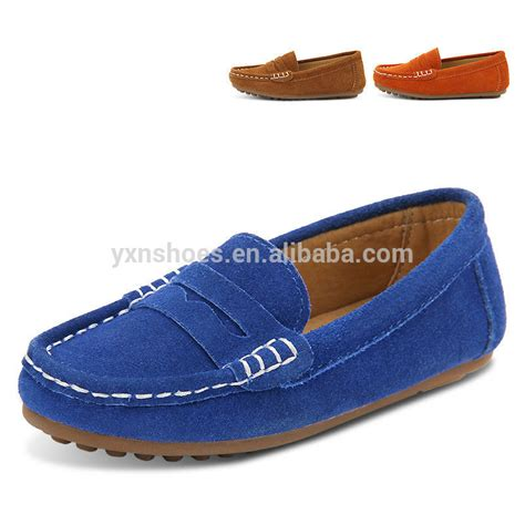fashion boys casual shoes moccasin gommino slip on genuine
