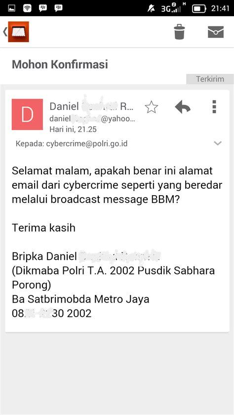 email polri broadcast email cybercrime polri go id adalah hoax email