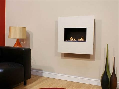 Buy Fireplace Screen by Kiah Flueless Hang On The Wall Fire With Stone Surround