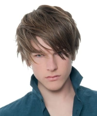 14 yr old boys long hair styles messy emo style for men with fringe wes haircut