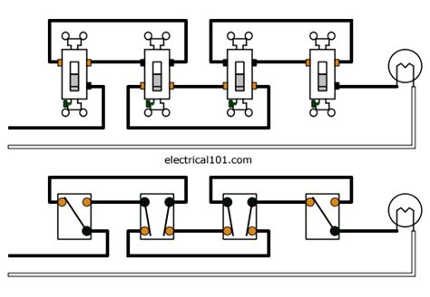 4 way light switch wiring 4 way switches electrical 101
