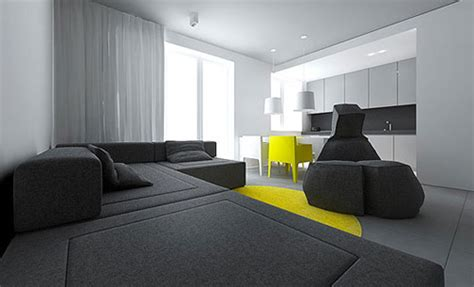 Modern Small Flat Interior Design by Square Meters Mylifescoop Net