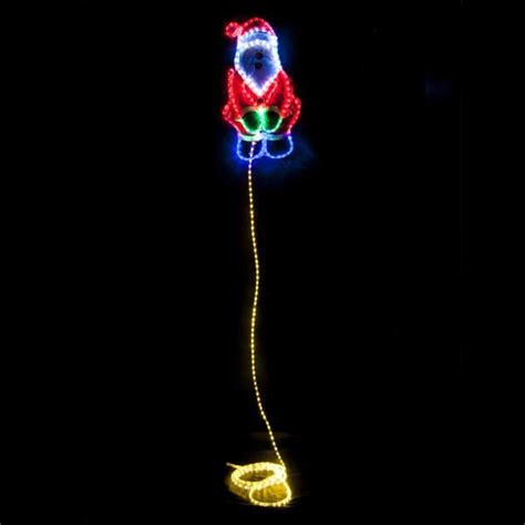 christmas led ropelight weeing santa 5m silhouette rope