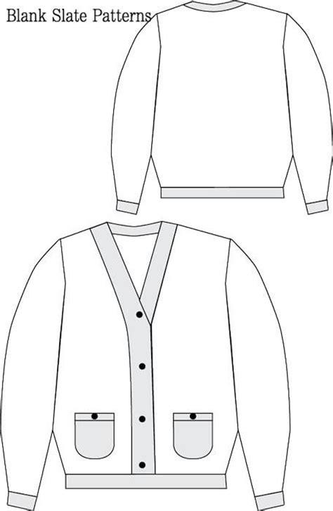 pattern empty line cool cardigan sewing pattern blank slate patterns
