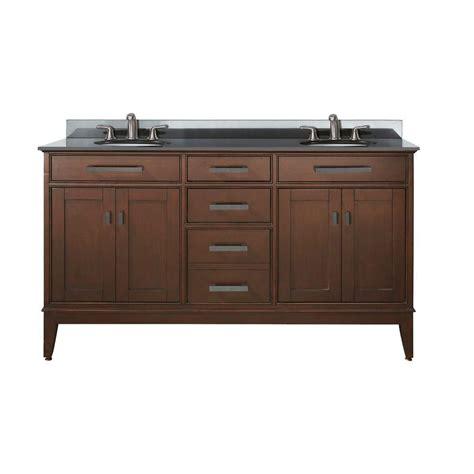 avanity 60 inch w sink vanity in tobacco
