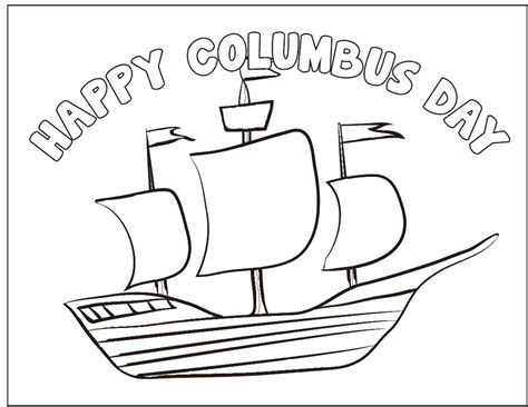 Columbus Day Coloring Page Imagenes De Columbus Day For Coloring