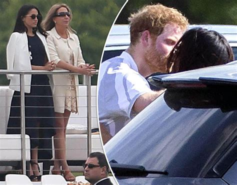 meghan markle and prince harry prince harry spotted kissing meghan markle as engagement