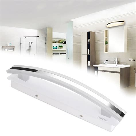 waterproof lighting for bathrooms modern 8w warm white bathroom mirror light front led