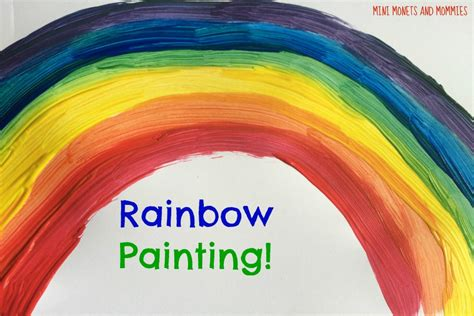 mini monets and mommies rainbow color mixing activity for