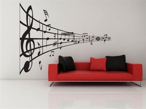 music home decor music line of notes decal vinyl sticker music home