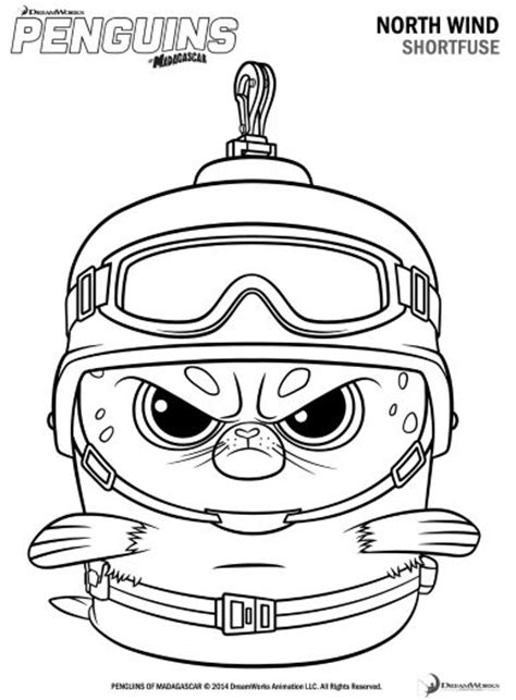 penguins of madagascar coloring pages pdf free printable penguins of madagascar shortfuse coloring