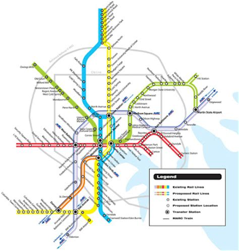 baltimore light rail system map image collections