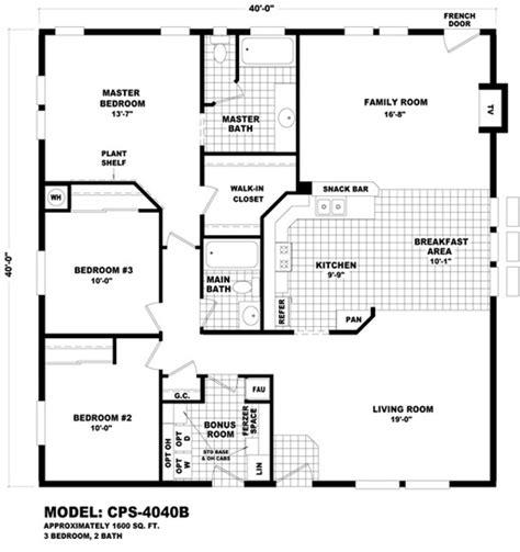 home design 40x40 floor plan cps 4040b profile series durango homes