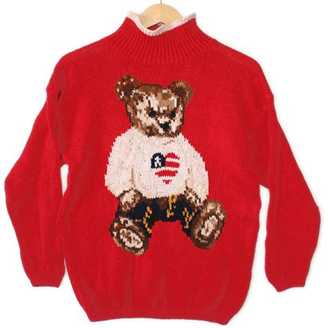valentines day sweaters vintage 90s teddy s independence day