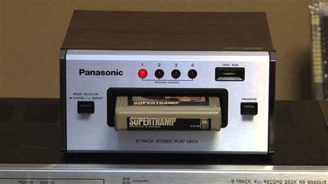 stereo 8 cassette panasonic rs 807 stereo 8 track player deck