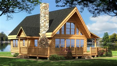 Cabin Houseplans by Log Cabin House Plans Rockbridge Log Home Cabin