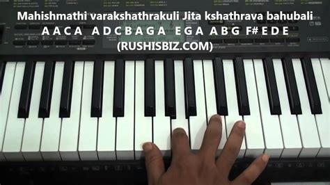 theme music bahubali bahubali theme music piano notes video tutorials free