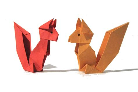 En Origami - origami squirrel easy origami tutorial version how