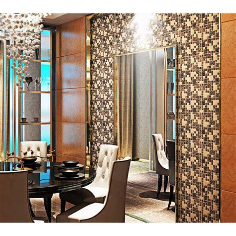 Brushed stainless steel backsplash mosaic tile designs black ceramic mosaic wall tiles