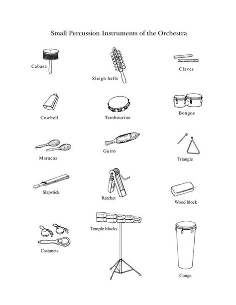 instrument family coloring page quot the percussion family small quot drawings of small